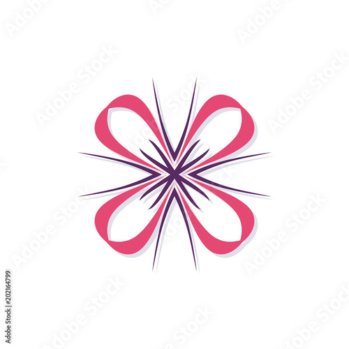Abstract element in the form of a stylized four petalled flower a abstract element in the form of a stylized four petalled flower a template for maxwellsz