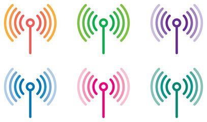 communication signal colored vector Wall mural