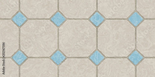 Beige Blue Seamless Classic Floor Tile Texture Simple