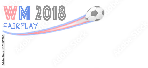 Fussball Wm 2018 Russland Ball Mit Schweif Public Viewing