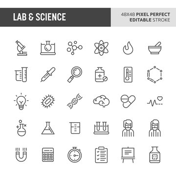 Lab & Science Vector Icon Set