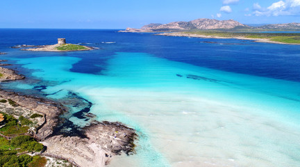 Fotomurales - Badebucht auf Sardinien