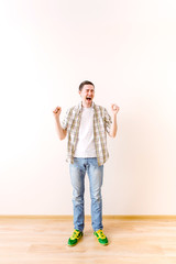 Photo of screaming young man