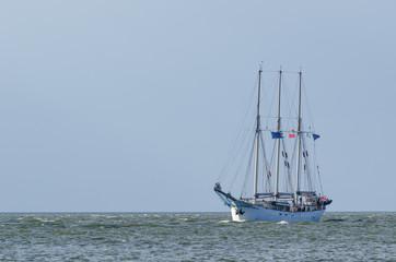 SAILING VESSEL - A gaff schooner at sea