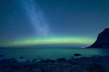 Aurora light with milkeyway. Taken in Ulsteinvik Norway