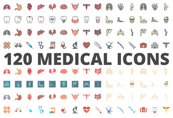 Medicine colored flat icon vector