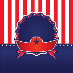4th of July, independence day . Happy independence day . badge
