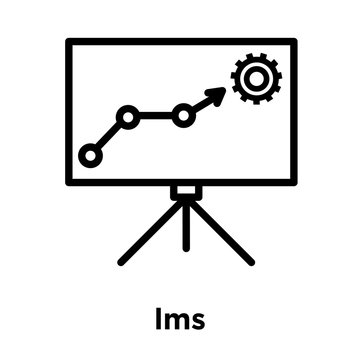lms icon isolated on white background