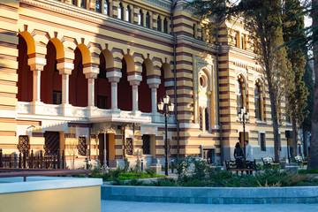 TBILISI, GEORGIA - MARCH 8, 2016: Georgian National Opera and Ballet Theater built in 1851 in Tbilisi, Georgia
