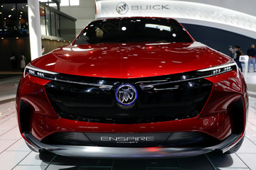 The Buick Enspire concept car is displayed during a media preview of the Auto China 2018 motor show in Beijing