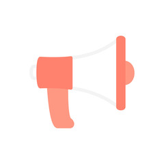 Speaker megaphone SEO business flat icon vector