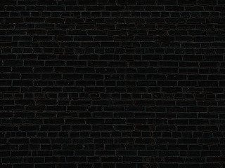 the old black brick wall background  texture