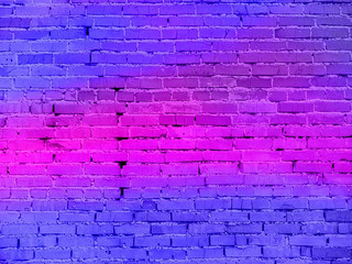 real neon light on the brick wall