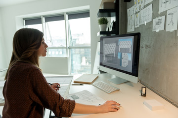 Industrial designer working in new project