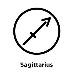 Sagittarius icon isolated on white background