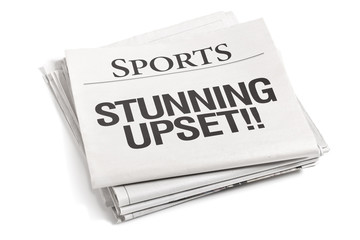 Newspaper Headlines Sports Stunning Upset