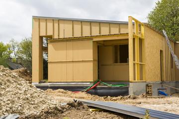 Wall Mural - Construction d'une maison écologique