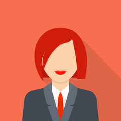 Businesswoman icon. Flat illustration of businesswoman vector icon for web