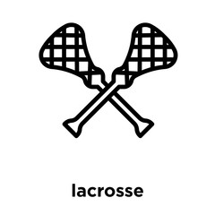 lacrosse icon isolated on white background