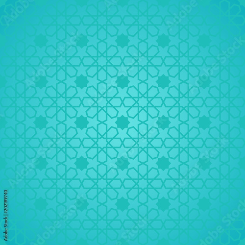 Geometric islamic pattern  Traditional arabian style vector