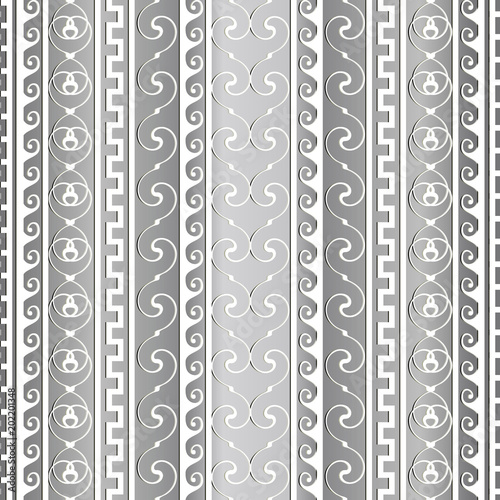 Greek ancient vector border seamless pattern  Striped light