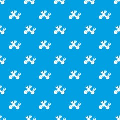 Molecule bio pattern vector seamless blue repeat for any use
