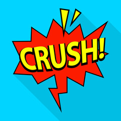 Crush icon. Pop art illustration of crush vector icon for web