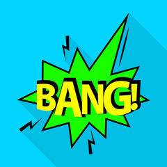 Bang icon. Pop art illustration of bang vector icon for web