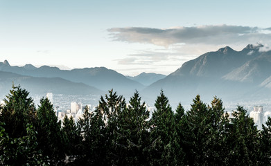Vancouver Mountains Landscape on a Summers Day
