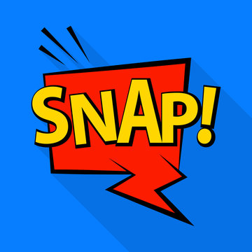 Snap icon. Pop art illustration of snap vector icon for web