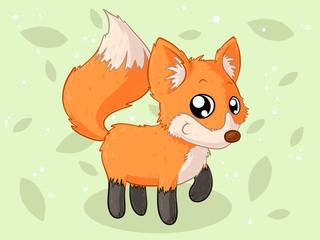 Glücklicher Comic Fuchs