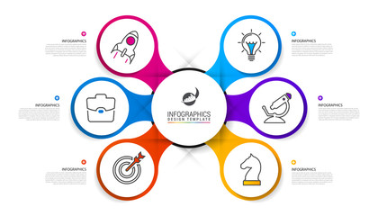 Infographic design template. Business concept with 6 steps