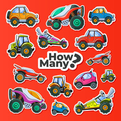 Cars Counting Children Educational Game