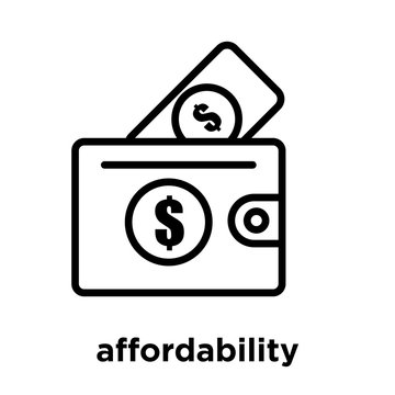 affordability icon isolated on white background