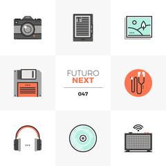 Multimedia Devices Futuro Next Icons