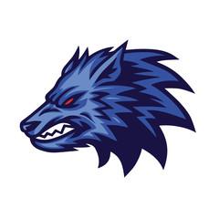Furious Wolf Logo Vector Design Concept