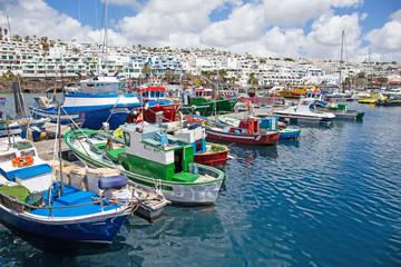 Fotorolgordijn Poort alter Fischreihafen von Puerto del Carmen