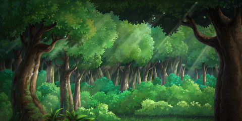 Picture painted in deep forest green