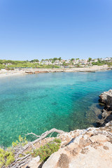 Cala Murada, Mallorca - A glance from a viewpoint above the coastline of Cala Murada