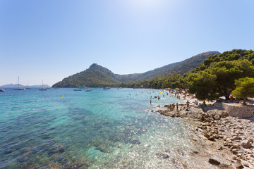 Platja de Formentor, Mallorca - Turquoise water at the dreamily beach of Platja de Formentor