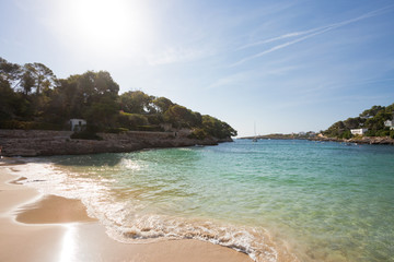 Cala d'Or, Mallorca - Sundown at the beautiful beach of Cala d'Or