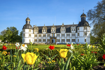 Foto op Canvas Sprookjeswereld Paderborn, Schloss Neuhaus