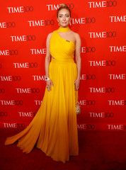 Bumble CEO Whitney Wolfe Herd has her photo taken on the red carpet after arriving for the TIME 100 Gala in Manhattan, New York