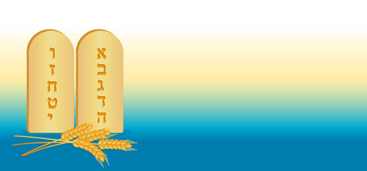 Tablets of Stone and wheat, banner