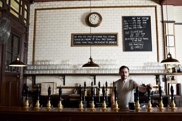 Portrait of bartender in brewery
