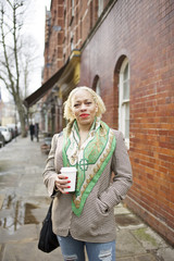 Street portrait of a stylish woman