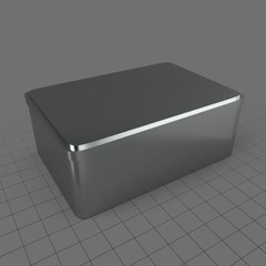 Rectangular tin