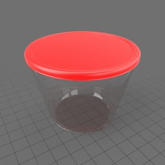 Round food container