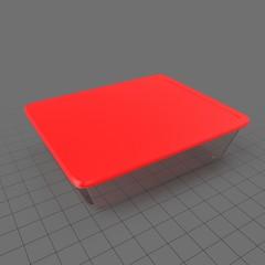 Large rectangular food container