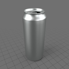 Tall open soda can